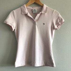 Lacoste 2 Button Classic Polo  Light Pink 6